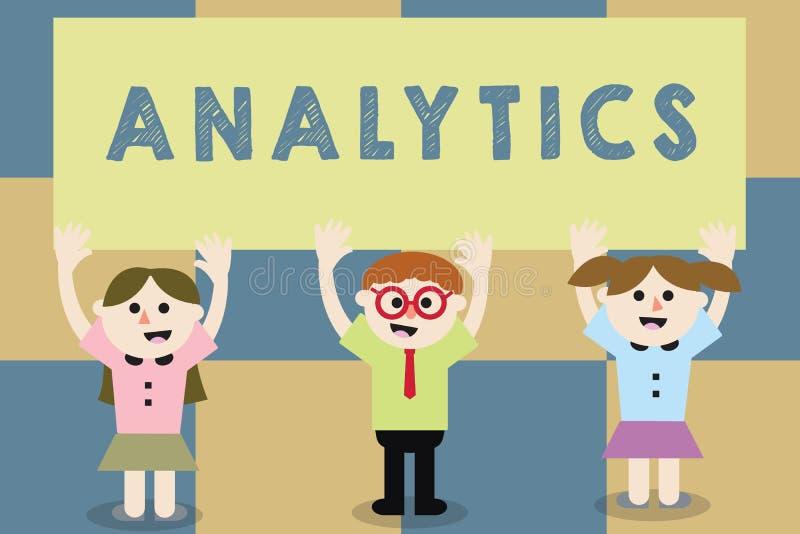 Konceptualny ręki writing pokazuje analityka Biznesowego fotografia teksta systematyczna obliczeniowa analiza dane statystyki lub ilustracja wektor