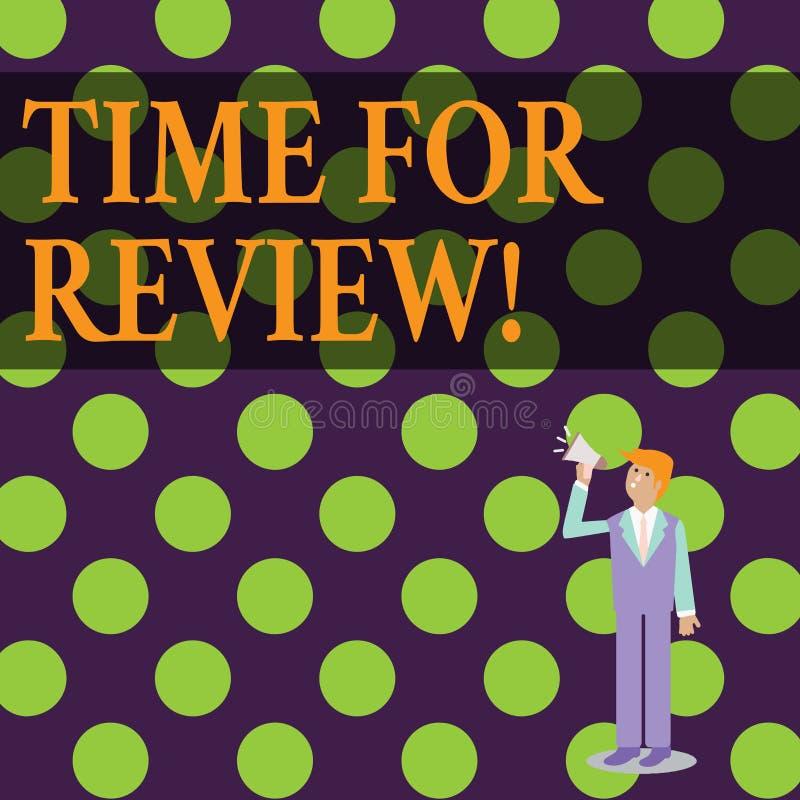 Konceptualny ręki writing pokazuje czas Dla przeglądu Biznesowego fotografia teksta formalna ocena coś z zamiarem ilustracji