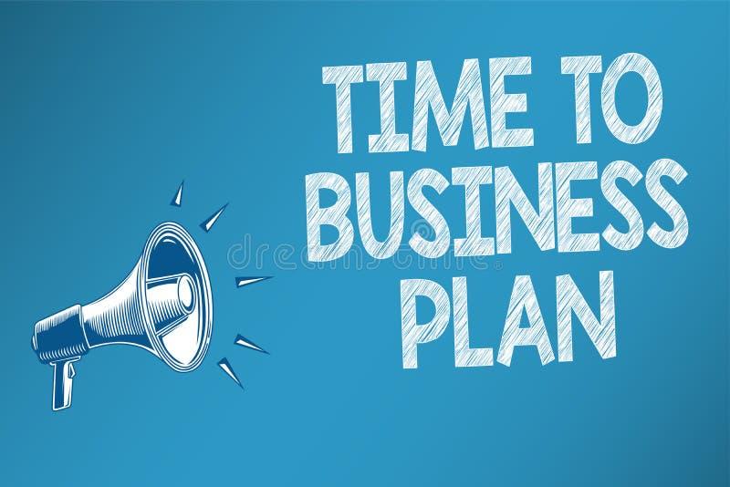 Konceptualny ręki writing pokazuje czas plan biznesowy Biznesowego fotografia teksta organizatorski rozkład dla praca marketingu ilustracja wektor