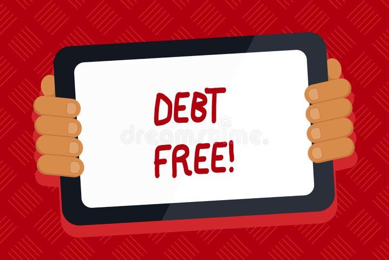 Konceptualny ręki writing pokazuje dług SWOBODNIE Biznesowy fotografia tekst posiadać jakaś rzeczy lub pieniądze jakaś jednostka  ilustracja wektor