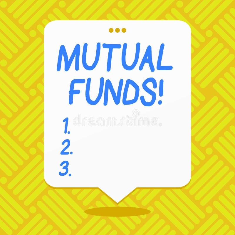 Konceptualny ręki writing pokazuje fundusze powierniczych Biznesowa fotografia pokazuje inwestycję fundował udziałowów handle wew royalty ilustracja