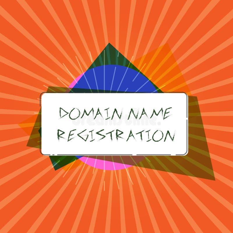 Konceptualny ręki writing pokazuje nazwy domeny rejestrację Biznesowy fotografii pokazywać Posiada adres ip Utożsamia szczególneg ilustracji