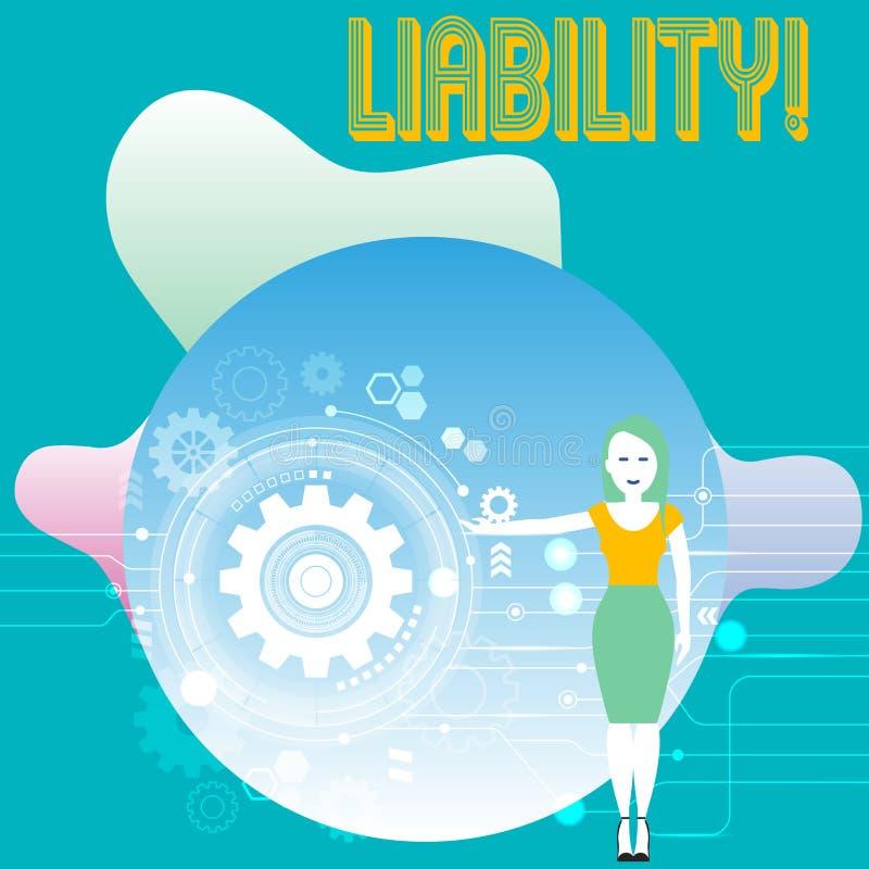 Konceptualny ręki writing pokazuje odpowiedzialność Biznesowy fotografia teksta stan być legalnie odpowiedzialny dla coś ilustracja wektor