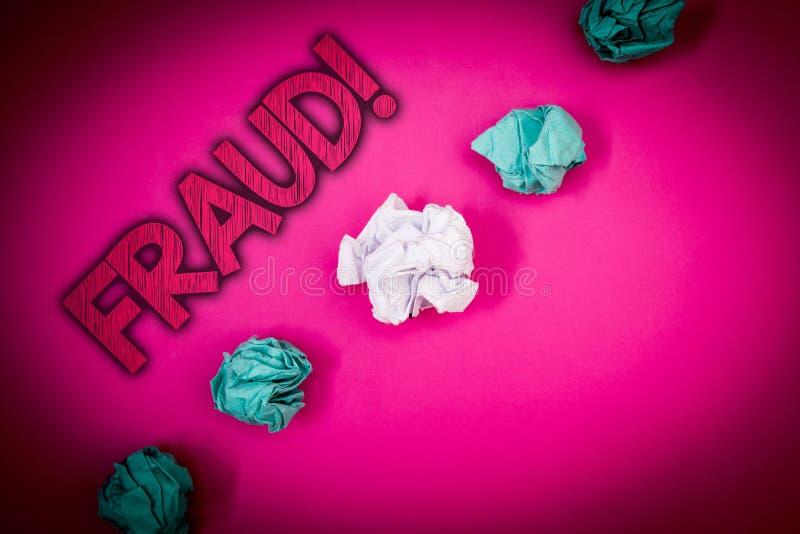 Konceptualny ręki writing pokazuje oszustwu Motywacyjnego wezwanie Biznesowego fotografia teksta Kryminalny łudzenie dostawać pie zdjęcie royalty free