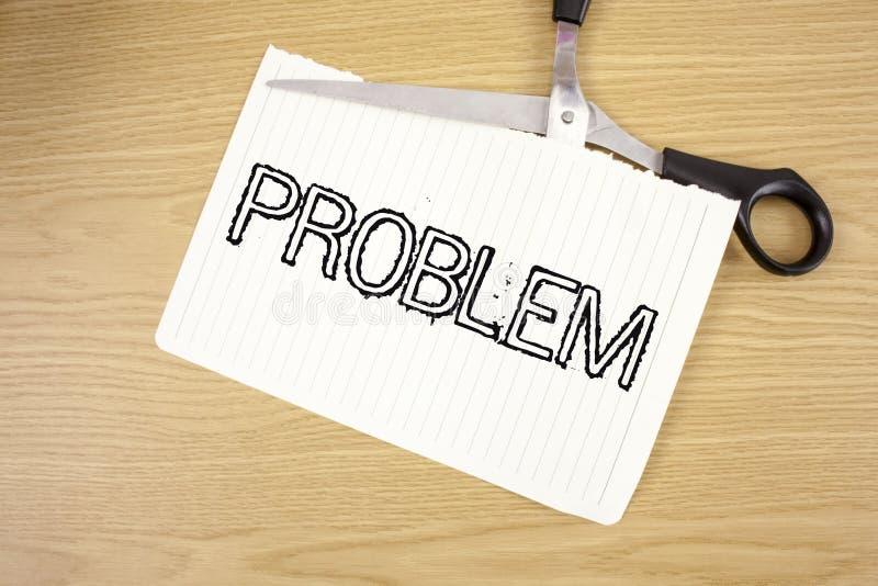 Konceptualny ręki writing pokazuje problem Biznesowy fotografia teksta kłopot który potrzebuje być rozwiązującym Trudnym sytuaci  obrazy royalty free