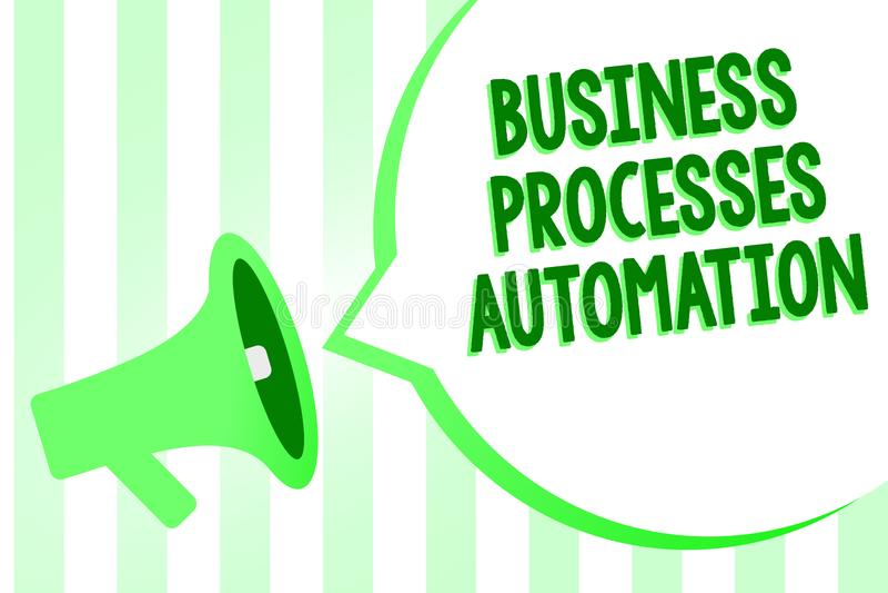Konceptualny ręki writing pokazuje rozwój biznesu automatyzację Biznesowy fotografia tekst wykonujący dokonywać cyfrową transform ilustracja wektor