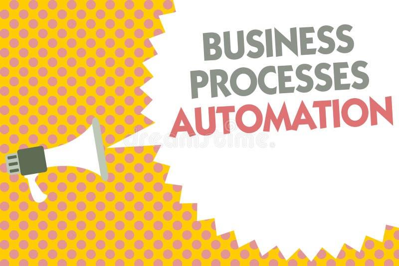 Konceptualny ręki writing pokazuje rozwój biznesu automatyzację Biznesowy fotografia tekst wykonujący dokonywać cyfrową transform royalty ilustracja