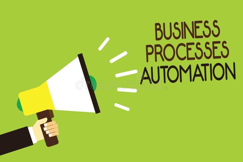 Konceptualny ręki writing pokazuje rozwój biznesu automatyzację Biznesowy fotografii pokazywać wykonuję dokonywać cyfrowego trans royalty ilustracja