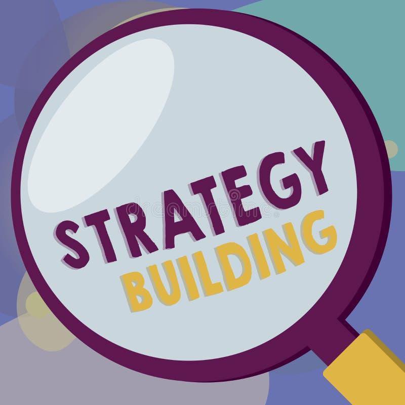 Konceptualny ręki writing pokazuje strategii Budować Biznesowy fotografia tekst Wspiera kupienie i nabywanie inny platformy royalty ilustracja