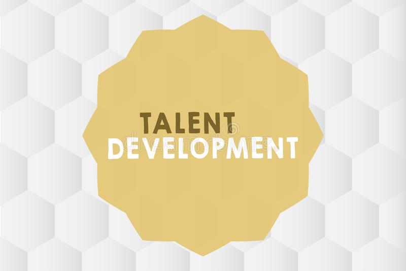 Konceptualny ręki writing pokazuje talentu rozwój Biznesowa fotografia pokazuje budynek umiejętności zdolność Ulepszać royalty ilustracja