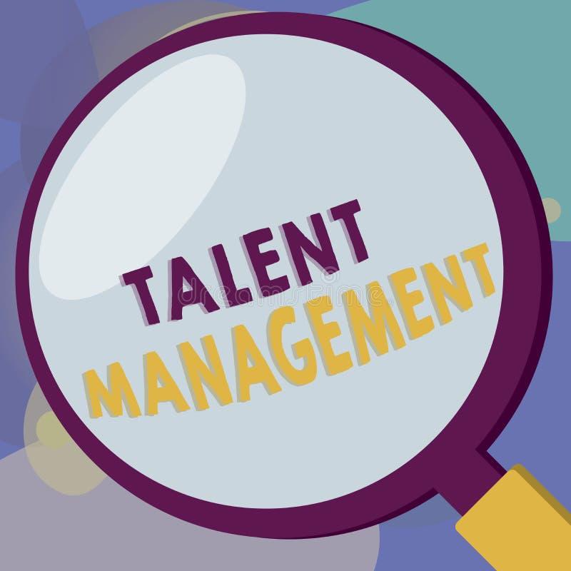 Konceptualny ręki writing pokazuje talentu zarządzanie Biznesowy fotografia teksta nabywanie zatrudnia utalentowanych pracowników ilustracja wektor
