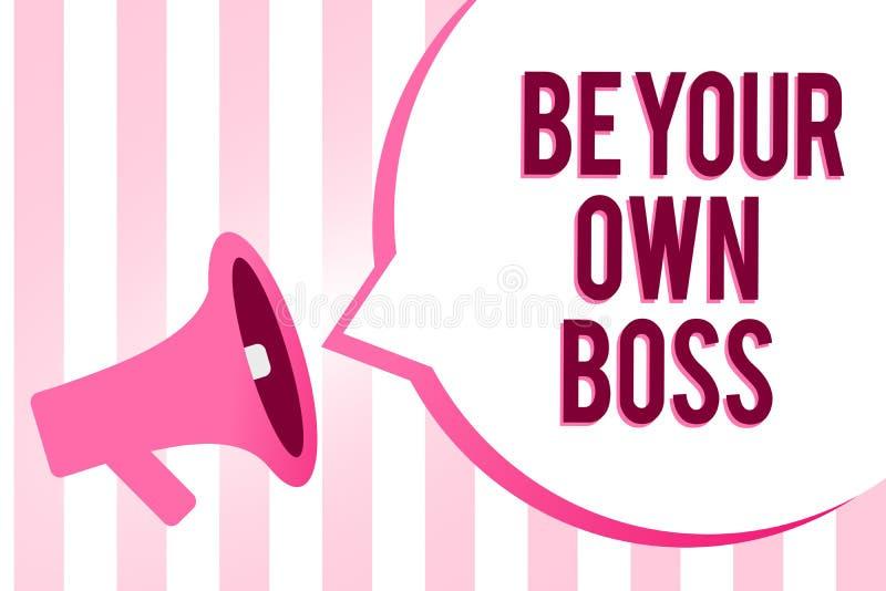 Konceptualny ręki writing pokazywać Był Twój Swój szefem Biznesowa fotografia pokazuje przedsiębiorczość początku niezależności b ilustracja wektor