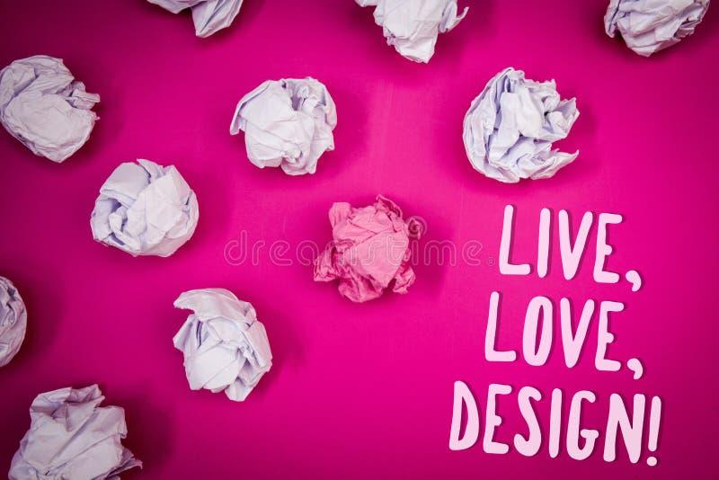 Konceptualny ręki writing seans Żywy, miłość, Projektuje Motywacyjnego wezwanie Biznesowy fotografia tekst Istnieje czułość Tworz obrazy stock