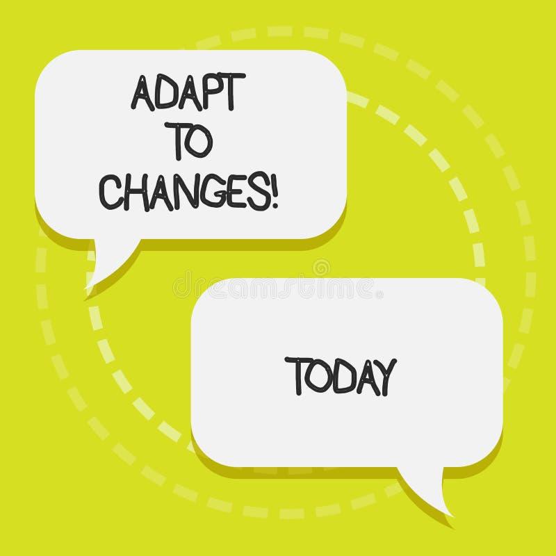 Konceptualny ręki writing seans Adaptuje zmiany Biznesowego fotografia teksta zmian Nowatorska adaptacja z technologicznym ilustracja wektor