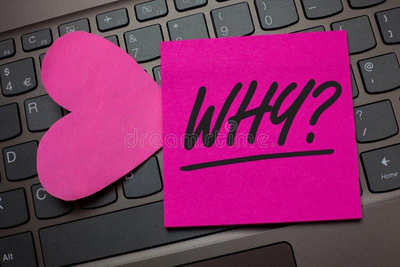 Konceptualny ręki writing seans Dlaczego pytanie Biznesowy fotografia tekst Pyta dla odmianowych odpowiedzi coś przesłuchuje dowi zdjęcia royalty free