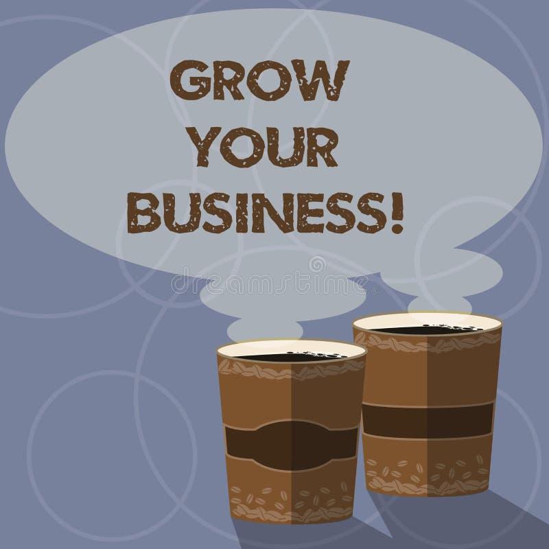 Konceptualny ręki writing seans R Twój biznes Biznesowa fotografia pokazuje ulepszający niektóre miarę przedsięwzięcia ilustracja wektor