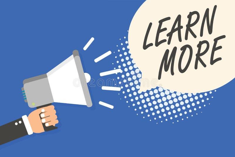 Konceptualny ręki writing seans Uczy się Więcej Biznesowy fotografia tekst Pogłębia wiedzę rzecz ty chcesz robić lub nowy umiejęt ilustracji