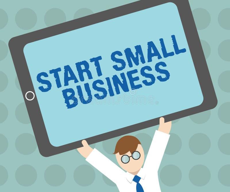 Konceptualny ręki writing seansu początku mały biznes Biznesowy fotografia tekst Aspiruje przedsiębiorcy Nowy przedsięwzięcie han ilustracji