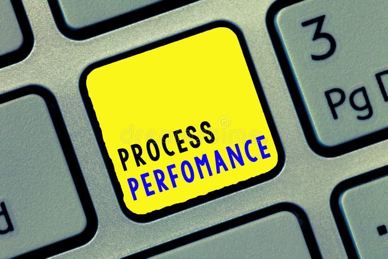 Konceptualny ręki writing seansu procesu występ Biznesowe fotografia teksta procesu miary efektywnie Spotykają organizacje zdjęcia stock