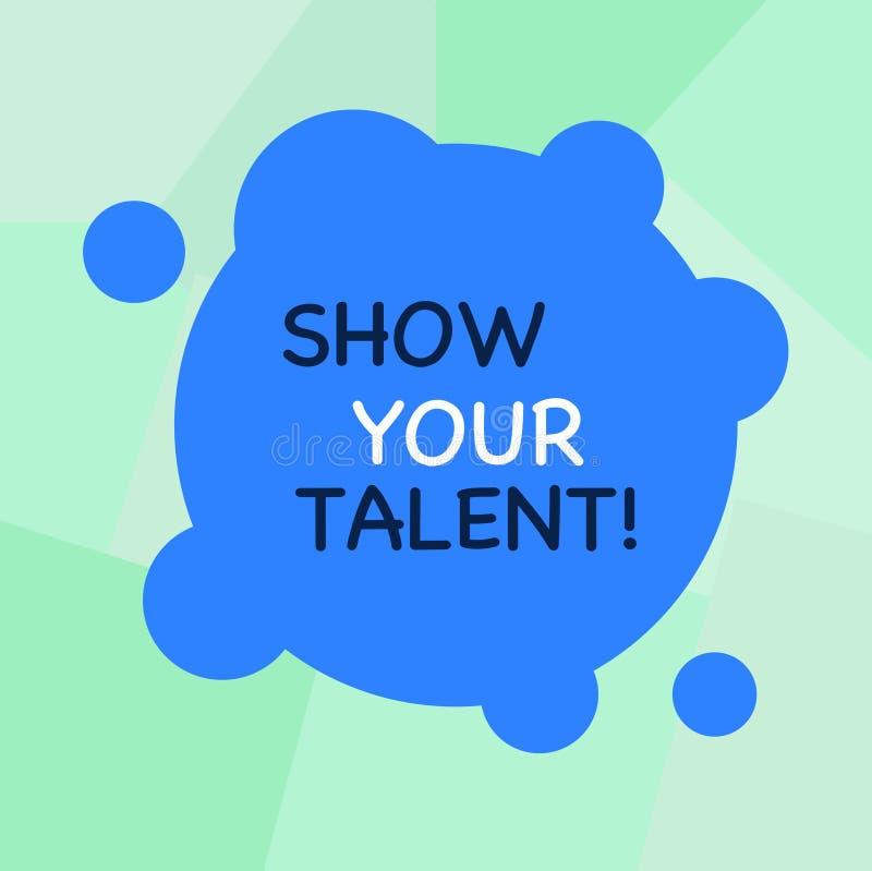 Konceptualny ręki writing seansu przedstawienie Twój talent Biznesowa fotografia pokazuje zaproszenie pokazywać someone co jest ilustracja wektor