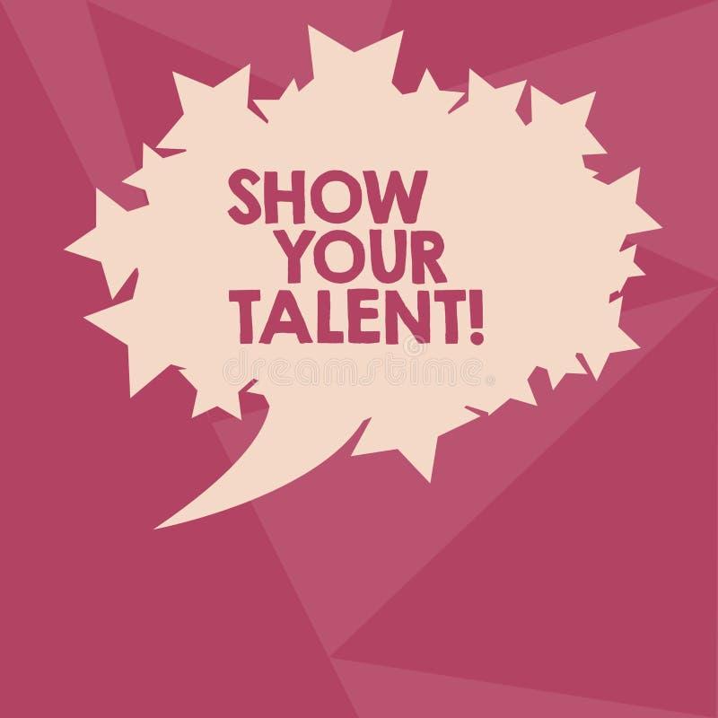 Konceptualny ręki writing seansu przedstawienie Twój talent Biznesowy fotografia teksta zaproszenie pokazywać someone co jest wyk ilustracji