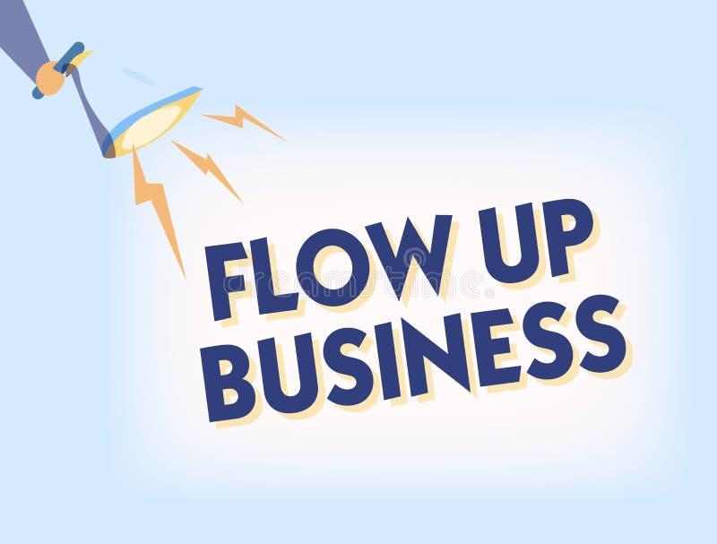 Konceptualny ręki writing seansu przepływ W górę biznesu Biznesowy fotografia teksta pieniądze który rusza się do i z twój firm ilustracja wektor