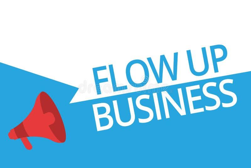 Konceptualny ręki writing seansu przepływ W górę biznesu Biznesowy fotografia teksta pieniądze który rusza się do i z twój firm royalty ilustracja