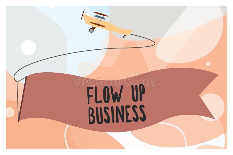 Konceptualny ręki writing seansu przepływ W górę biznesu Biznesowy fotografia teksta pieniądze który rusza się do i z twój firm ilustracji