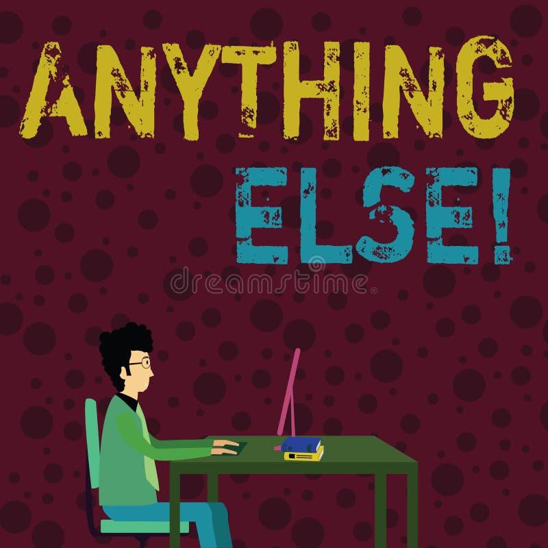 Konceptualny r?ki writing pokazuje Cokolwiek Innego Biznesowy fotografia tekst Jaka? inna rzecz u?ywa? przy ko?c?wk? zdania lub s ilustracji