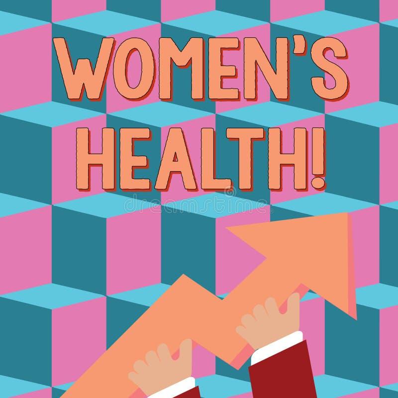 Konceptualny r?ki writing pokazuje kobietom s jest zdrowiem Biznesowy fotografia tekst problem zdrowia odmianowi huanalysis anato ilustracja wektor