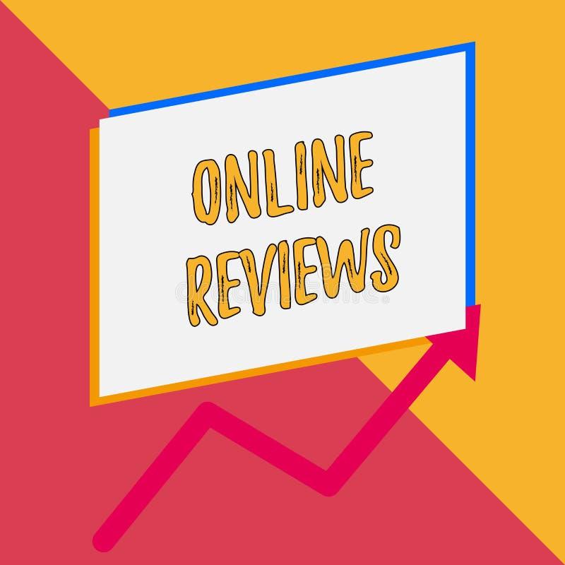 Konceptualny r?ki writing pokazuje Online przegl?dy Biznesowa fotografia pokazuje produktu cenienia klienta informacje zwrotne pu royalty ilustracja
