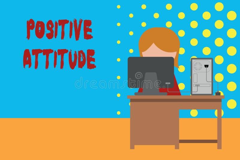 Konceptualny r?ki writing pokazuje Pozytywn? postaw? Biznesowa fotografia pokazuje By? optymistycznie w ?yciu Szuka dobry ilustracji