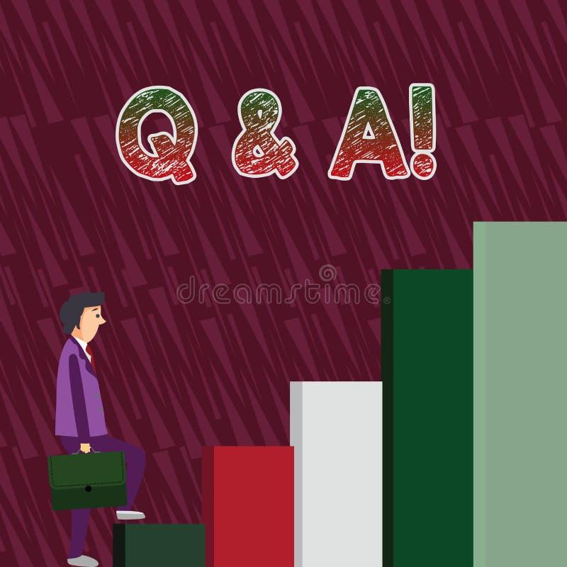 Konceptualny r?ki writing pokazuje Q i A Biznesowy fotografia tekst definiujący jak pytania pyta pokazywać i odpowiedziami dla ilustracja wektor