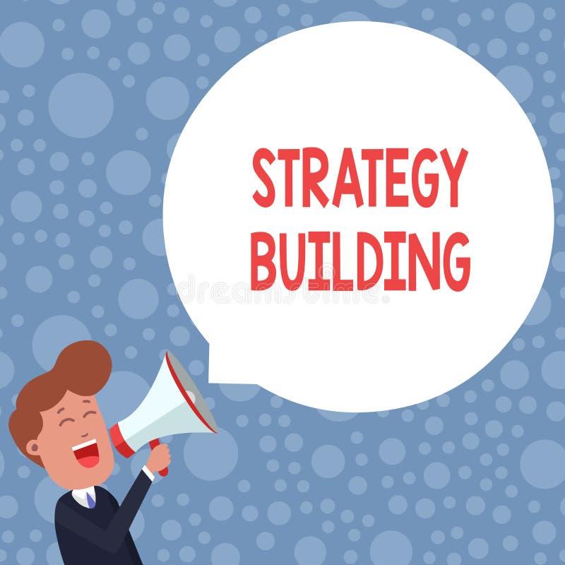 Konceptualny r?ki writing pokazuje strategii Budowa? Biznesowa fotografia pokazuje Wspierający kupienie i nabywanie inny royalty ilustracja
