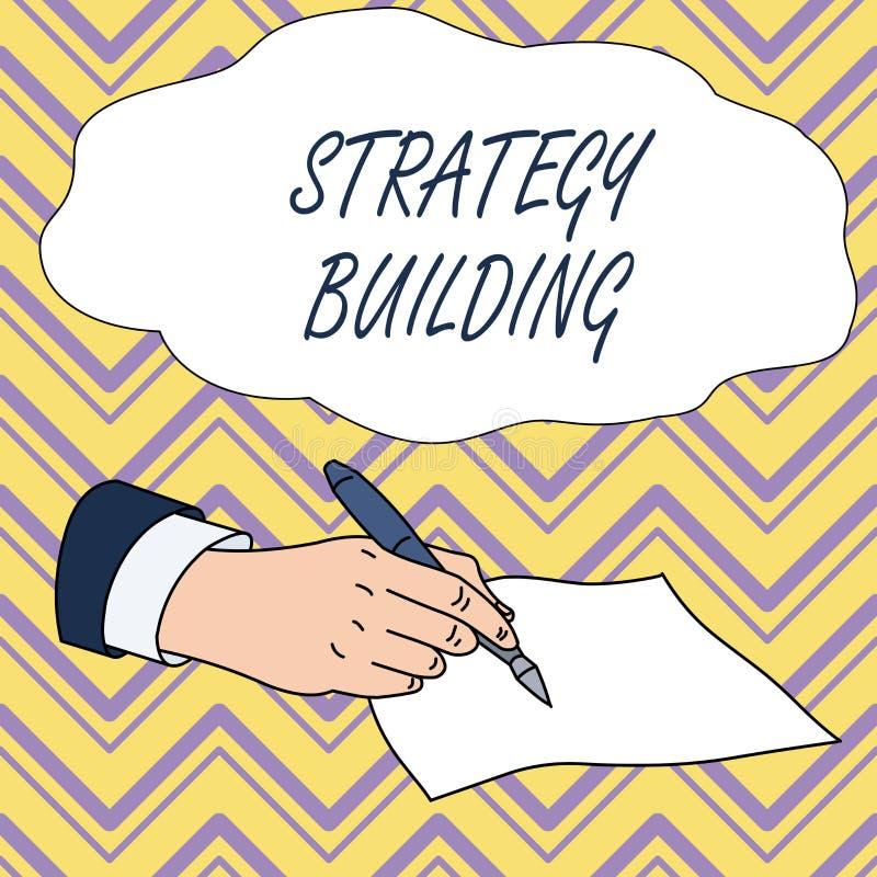Konceptualny r?ki writing pokazuje strategii Budowa? Biznesowy fotografia tekst Wspiera kupienie i nabywanie inny platformy ilustracji