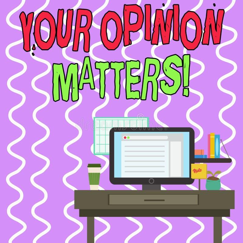 Konceptualny r?ki writing pokazuje Tw?j opinii sprawy Biznesowa fotografia pokazuje przedstawienie ty ty no zgadzasz si? z co? ilustracji