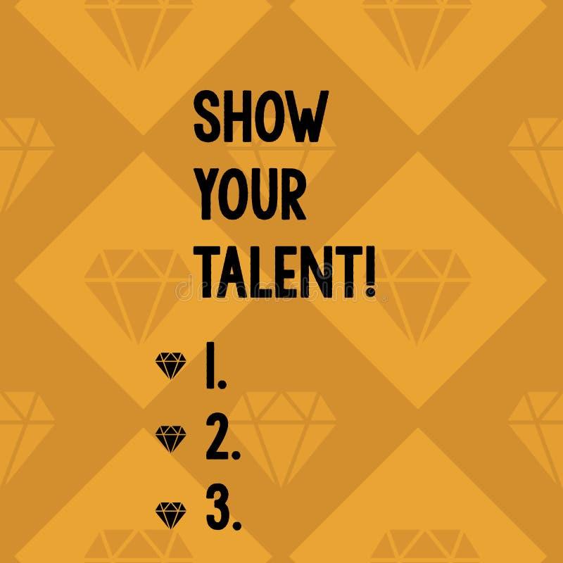 Konceptualny r?ki writing seansu przedstawienie Tw?j talent Biznesowa fotografia pokazuje zaproszenie pokazywa? someone co jest ilustracji
