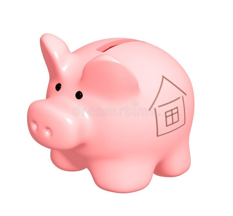 Konto bankowe dla kupować dom ilustracja wektor