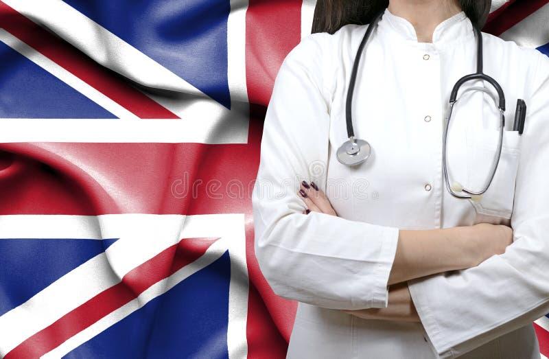 Konceptualny wizerunek krajowy system opieki zdrowotnej w Zjednoczone Królestwo fotografia royalty free