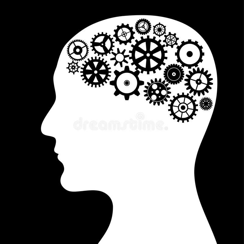 Konceptualny wizerunek - myśl proces ilustracja wektor
