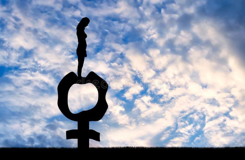 Konceptualny wizerunek o nieuchronnym przekwitaniu w kobietach obrazy stock