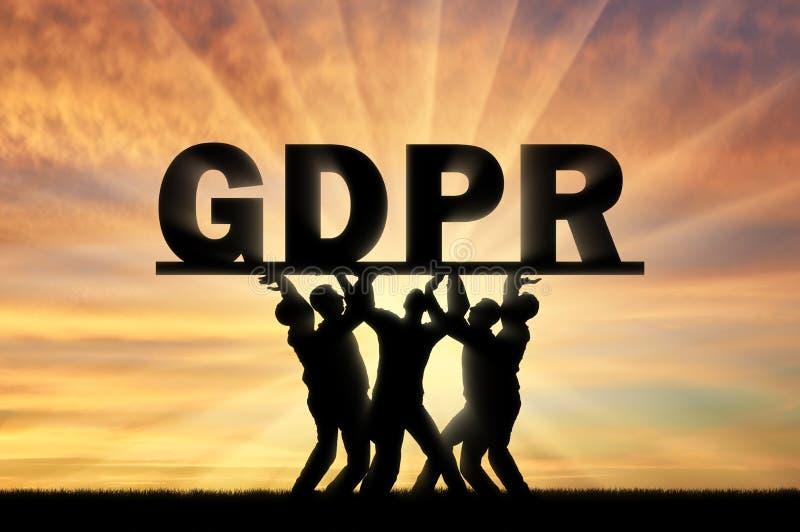 Konceptualny wizerunek o prawie GDPR zdjęcia royalty free