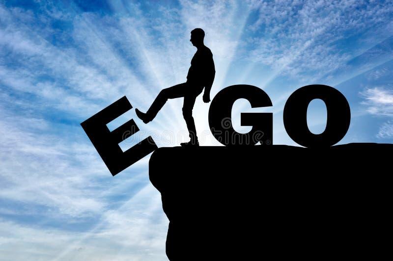 Konceptualny wizerunek walka przeciw egoizmowi obrazy royalty free