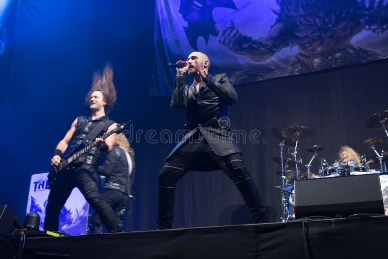 Koncert Fińska władza metalu zespołu bestia w czerni obraz royalty free