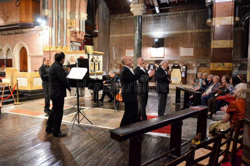 Koncert wśrodku kościół zdjęcie royalty free