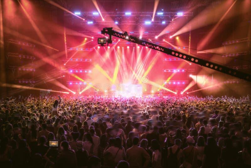 Koncert z strzelaniną na TV obraz royalty free
