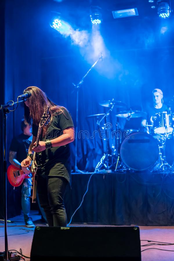 Koncert zespół rockowy fotografia royalty free