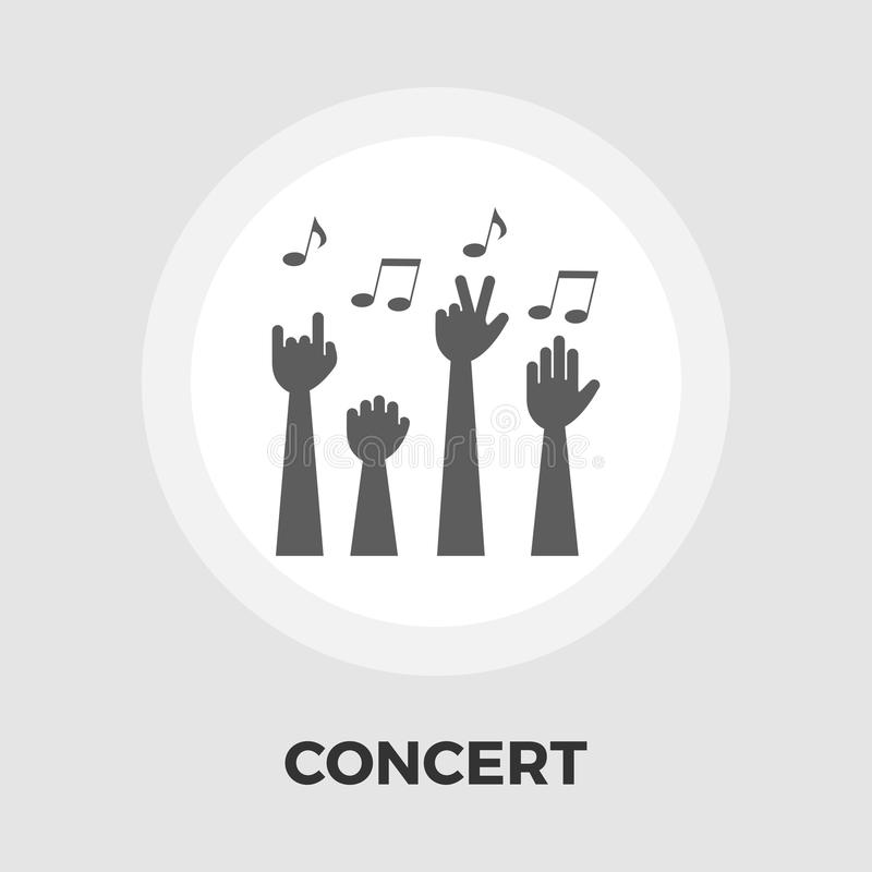 Koncertowa płaska ikona ilustracji
