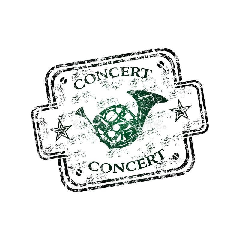 koncertowa pieczątka ilustracja wektor