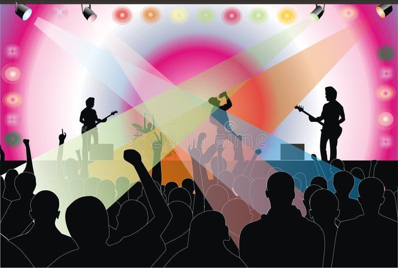 koncertowa skała royalty ilustracja